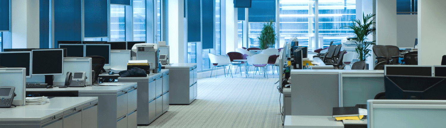 commercial office space with carpet and computers